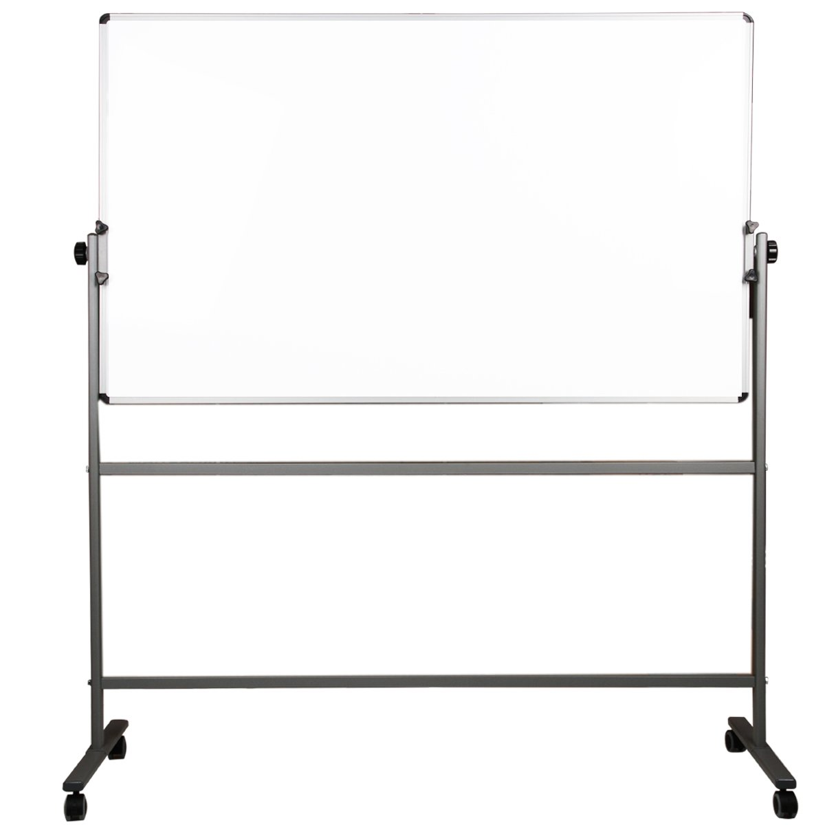 Double Sided Magnetic Whiteboard With Metal Stand & Wheels 90 X 120 Cm