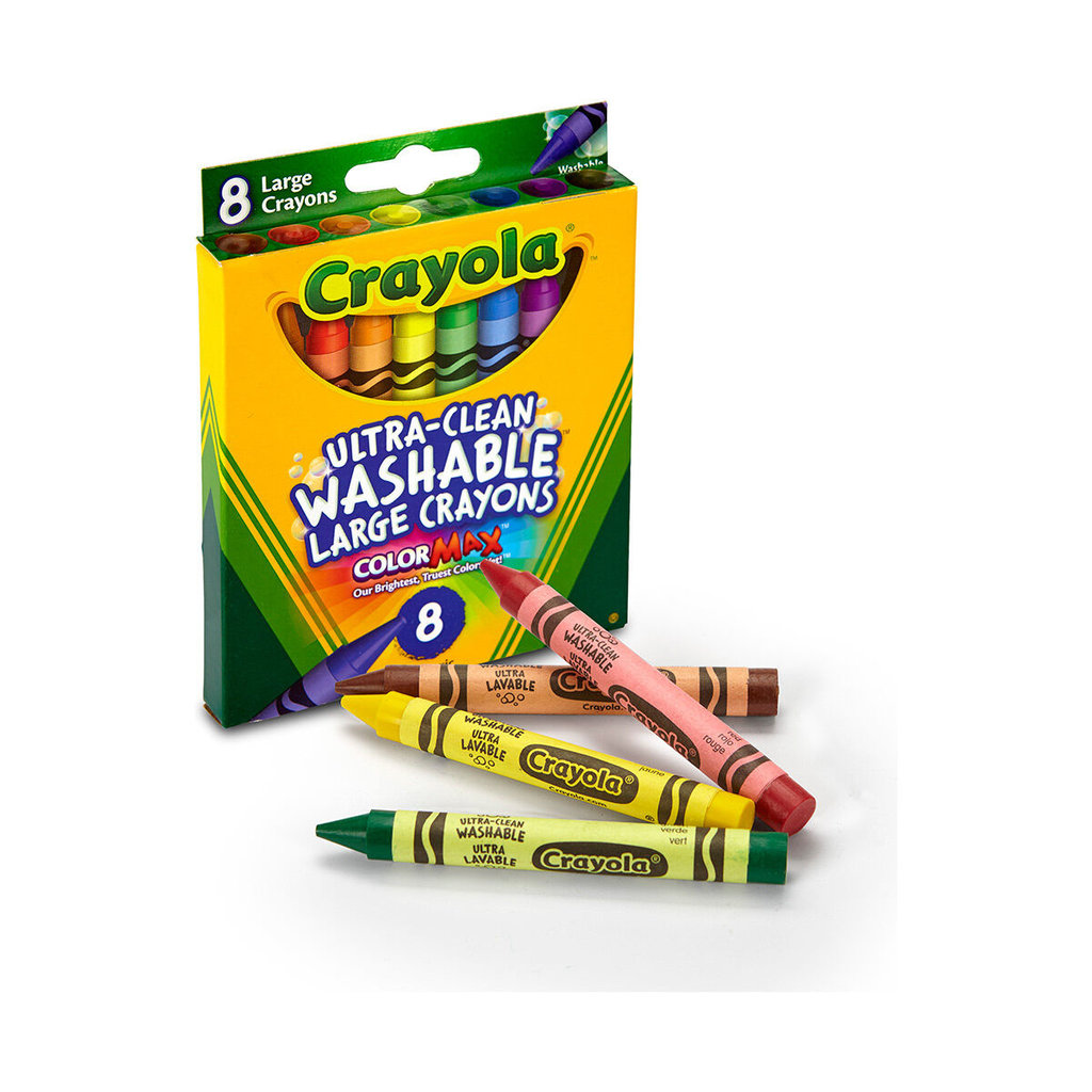 Bold color commands attention even at a distance, which is perfect for the office and classroom. Quick-drying, smear proof ink erases easily. Use to write on whiteboards, glass and most non-porous surfaces. 12 Crayons in a tuck box.  Product Details Includes key primary and secondary colors Bright vibrant colors Double