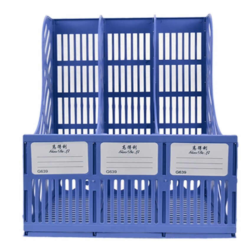 3 Sections Desktop File Tray Rack Paper Book Document Holder Office School Supplies Organization Storage Box Shelf File Holder