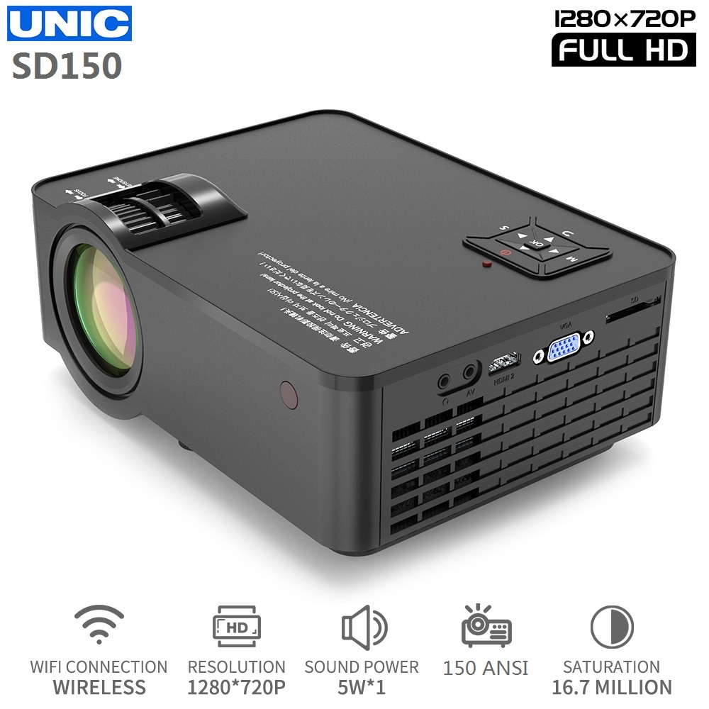 images/products/mainimage0UNIC-SD150-LED-6000-Lumens-1280x720-Resolution-Projector-1080P-Full-HD-HDMI-WIFI-Movie-Game-Sync.jpg