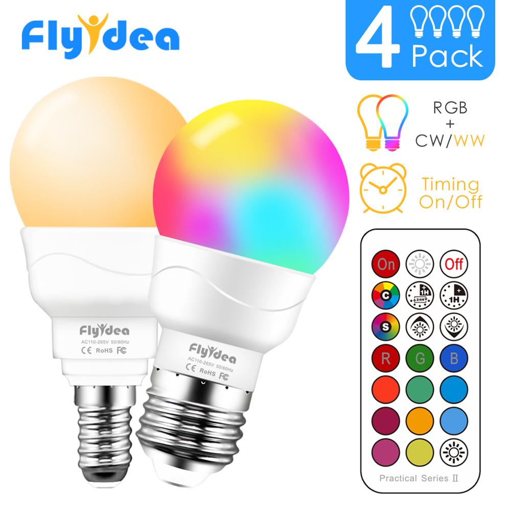 images/products/Smart RGB Smart Lighting, E14 LED Light Bulb, Color Changing, with IR Remote Control, Dimmable, E27 Magic Bulb, AC85-265V